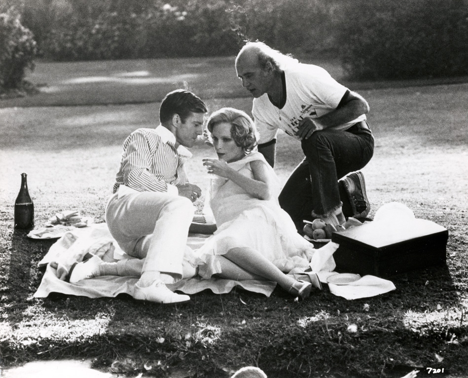 A nagy Gatsby, forgatási kép, Jack Clayton, Robert Redford, Mia Farrow, 1974