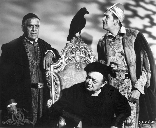 Vincent Price, Boris Karloff, Peter Lorre, Poe, A holló